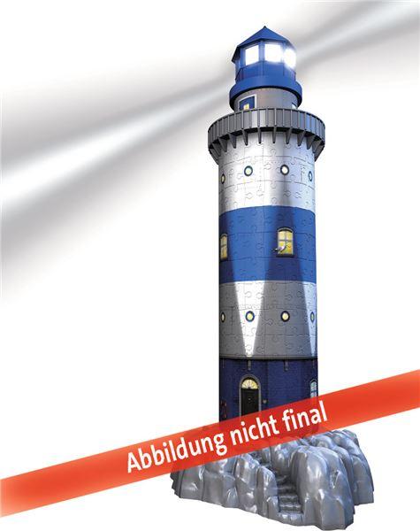 61fb38b7f ... 3D puzzle Maják v příboji (Noční edice), 216 dílků - Ravensburger