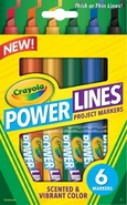 Crayola Fixy Powerlines zářivé 6 ks
