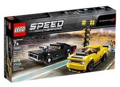LEGO SPEED CHAMPIONS 75893 2018 Dodge Challenger SRT Demon a 1970 Dodge Charger R/T