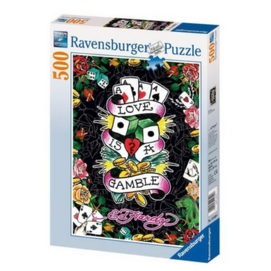 RAVENSBURGER-Ed Hardy: Love is a Gamble 500 d - puzzle