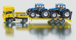 SIKU Farmer - Scania s přívěsem a 2 traktory New Holland T7070, 1:50